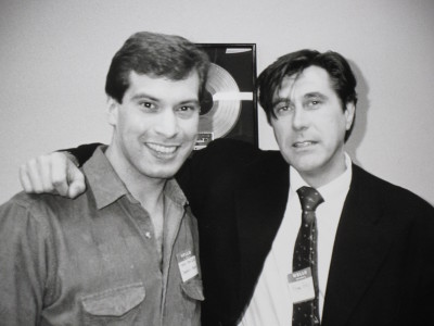 Martin with Bryan Ferry 02/02/88